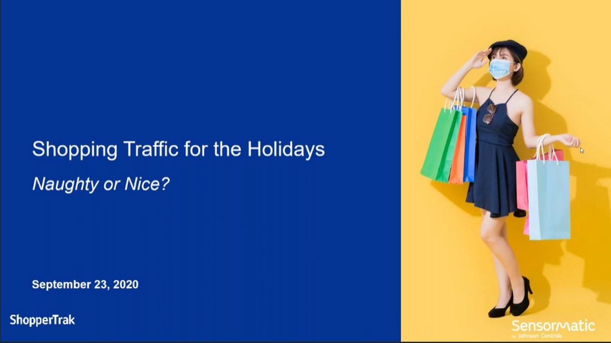 Shopping Traffic Insights for the Holidays Webinar, masked woman with many shopping bags